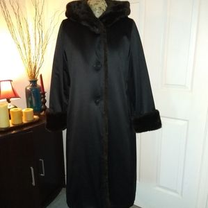 Jane Post For Saks Fifth Avenue Long Fur Lined